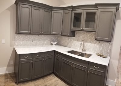 Grey Kitchen in the Kitchen and bath showroom in Cobb County