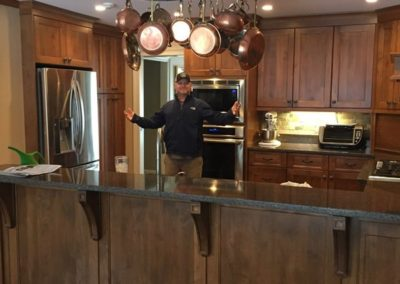 Here's Tim! He finished and installed the cabinets.
