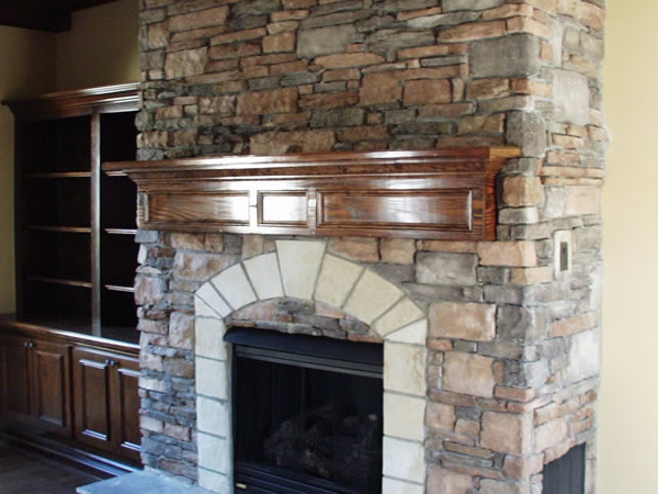 Fire places, and top quality bookshelves and cases as well!
