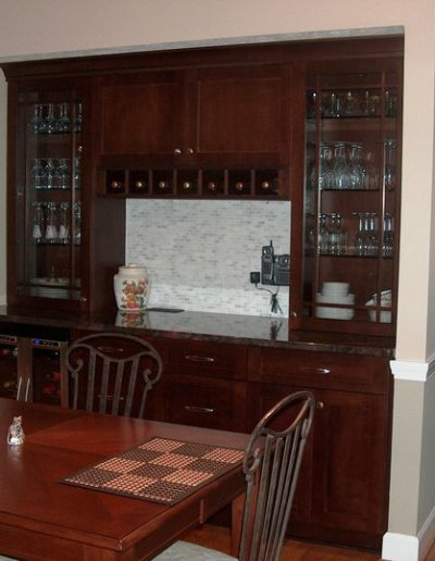 Bar after - custom build, hand finished, branded by Wysocki Brothers.