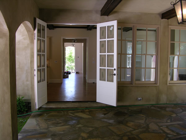 All of the work here was done, the stone patio, doors, painting and ceiling beams, by Wysocki Brothers...