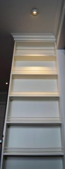 This is the refrigerator panel, at the customers request we custom made a china display rack.
