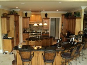 elegant kitchen remodel custom cabinets faux finish painting